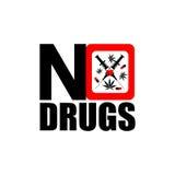 Nessun'icona delle droghe Immagini Stock