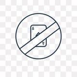 Nessun'icona di gioco di vettore isolata su fondo trasparente, linea royalty illustrazione gratis