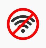 Nessun'icona di wifi illustrazione vettoriale