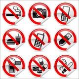 Nessun icone Fotografia Stock Libera da Diritti