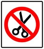 Nessun'illustrazione di vettore dell'icona del segno di proibizione di forbici Fotografia Stock