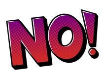Nessun'illustrazione di vettore di Pop art del libro di fumetti di parola Immagini Stock Libere da Diritti