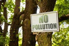 Nessun'immagine di concetto di inquinamento Immagine Stock