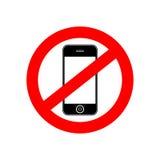 Nessun'insegna del segno del telefono Fotografia Stock Libera da Diritti