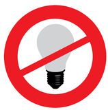 Nessun lampadine Fotografia Stock Libera da Diritti