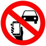 Nessun mandare un sms ed uso del telefono mentre determinando il segno di vettore royalty illustrazione gratis