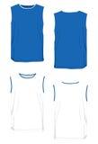 Nessun-manicotto di modello bicolore della maglietta. Fotografie Stock Libere da Diritti