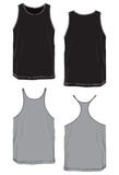 Nessun-manicotto di modello di base della maglietta. Immagine Stock Libera da Diritti