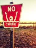 Nessun nuoto Fotografia Stock