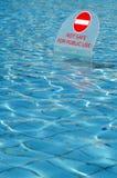 Nessun nuoto Immagine Stock