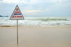 Nessun nuoto! Immagine Stock