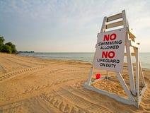 Nessun nuoto Fotografia Stock Libera da Diritti