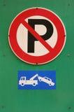 Nessun parcheggio fotografie stock