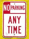 Nessun parcheggio Fotografia Stock