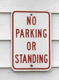 Nessun parcheggio o segno diritto Fotografia Stock