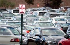 Nessun parcheggio in qualunque momento. Fotografia Stock