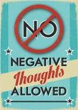 Nessun pensieri negativi permessi illustrazione vettoriale