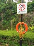 Nessun pesca e segno affogare Fotografia Stock