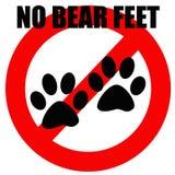 Nessun piedi dell'orso illustrazione di stock