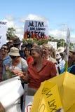 Nessun raduno di imposta del carbonio Fotografie Stock Libere da Diritti