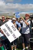 Nessun raduno di imposta del carbonio, Fotografia Stock