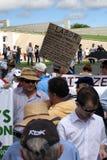 Nessun raduno di imposta del carbonio Fotografia Stock