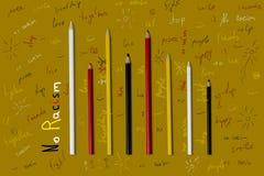 Nessun razzismo disegna a matita il concetto Fotografie Stock