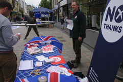 Nessun referendum 2014 di Indy dello Scottish dei sostenitori Fotografia Stock Libera da Diritti