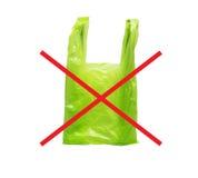 Nessun sacchetto di plastica Immagine Stock
