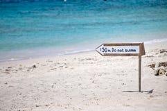 Nessun segnale di nuotata Immagini Stock Libere da Diritti