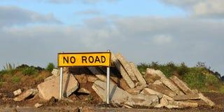 Nessun segnale stradale Fotografia Stock