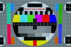 Nessun segnale TV o primo piano dello schermo dell'input immagine stock libera da diritti