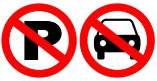 Nessun segni di parcheggio Immagine Stock Libera da Diritti