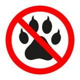 Nessun segno animale Segno proibito per nessun cane o nessun animale Fotografia Stock Libera da Diritti