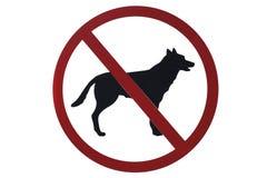 Nessun segno degli animali domestici Fotografie Stock Libere da Diritti