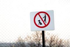 Nessun segno degli animali domestici Fotografia Stock