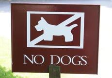 Nessun segno dei cani Fotografie Stock Libere da Diritti