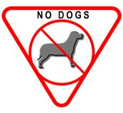 Nessun segno dei cani Immagini Stock