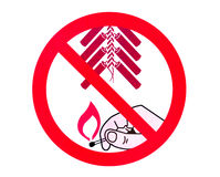 Nessun segno dei fuochi d'artificio fotografia stock libera da diritti