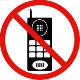 Nessun segno dei telefoni delle cellule Fotografie Stock Libere da Diritti
