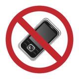 Nessun segno dei telefoni mobili Immagini Stock Libere da Diritti