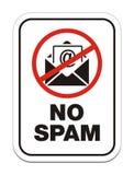 Nessun segno del allert dello Spam Fotografie Stock