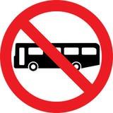 Nessun segno del bus royalty illustrazione gratis