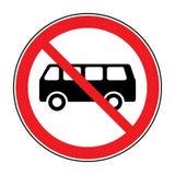 Nessun segno del bus illustrazione vettoriale