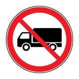 Nessun segno del camion illustrazione vettoriale