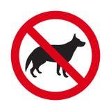Nessun segno del cane Fotografie Stock