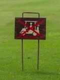 Nessun segno del carretto su verde Fotografia Stock
