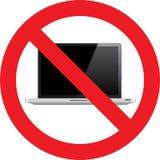 Nessun segno del computer portatile illustrazione di stock