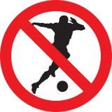 Nessun segno del gioco di calcio illustrazione di stock