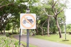 Nessun segno del motociclo Fotografia Stock